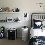 deco chambre fille noir et blanc