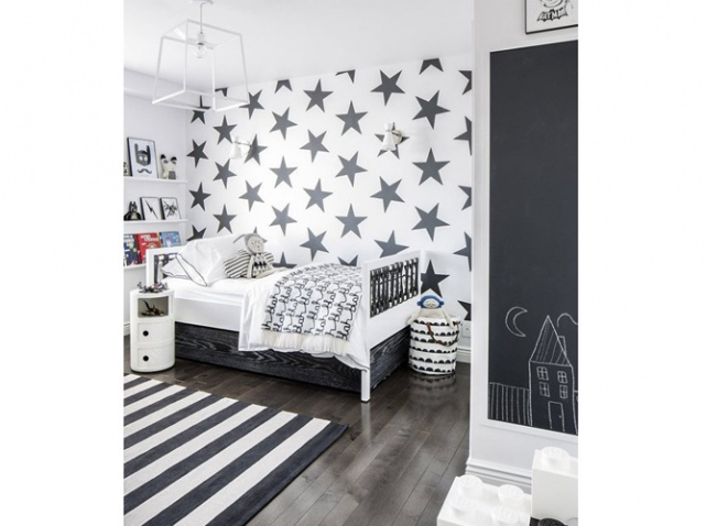 deco chambre fille noir et blanc. Black Bedroom Furniture Sets. Home Design Ideas