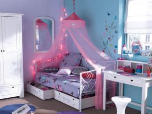 deco chambre fille rose et bleu - visuel #2
