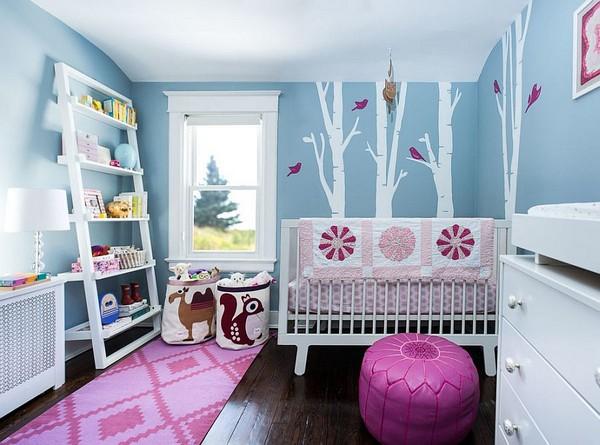 deco chambre fille rose et bleu - visuel #4