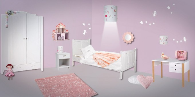 D coration chambre bebe theme fees for Decoration pour chambre fille