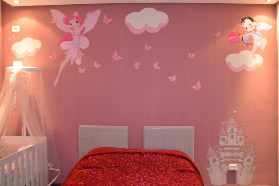 Chambre fille deco fee for Deco murale chambre bebe fille