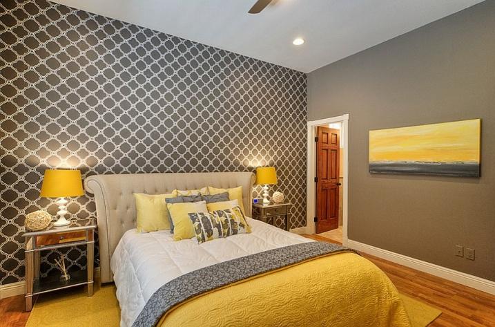 deco chambre jaune et gris   visuel #6