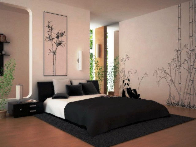 d coration chambre peinture murale. Black Bedroom Furniture Sets. Home Design Ideas