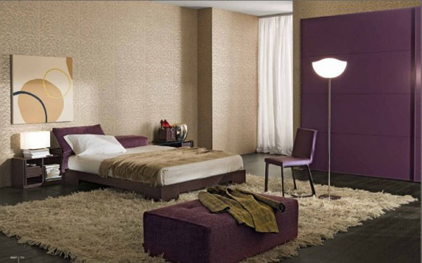 Beautiful Deco Chambre Beige Et Prune Gallery - Design Trends 2017 ...