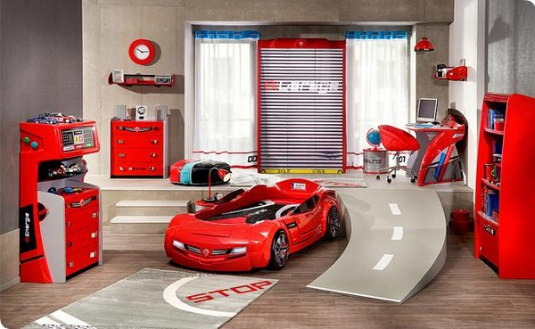 Beautiful chambre garcon voiture de course contemporary design