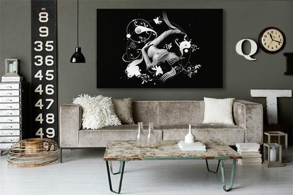 Emejing Tableau Noir Et Blanc Chambre Photos - House Design ...