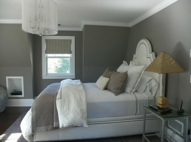 deco de chambre blanc et gris - visuel #8
