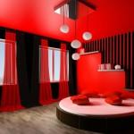 deco de chambre rouge et noir