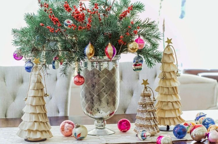 Deco noel a faire soi meme table - Centre de table de noel a faire soi meme ...
