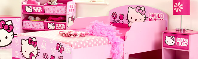 Chambre b b kitty for Chambre enfant fille hello kitty