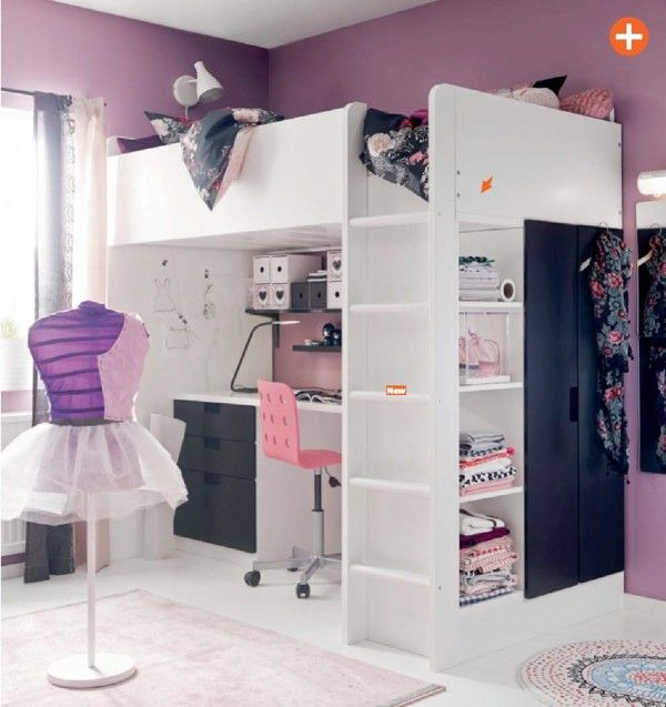 Chambre Princesse Adulte : IKEA Girls Room Purple