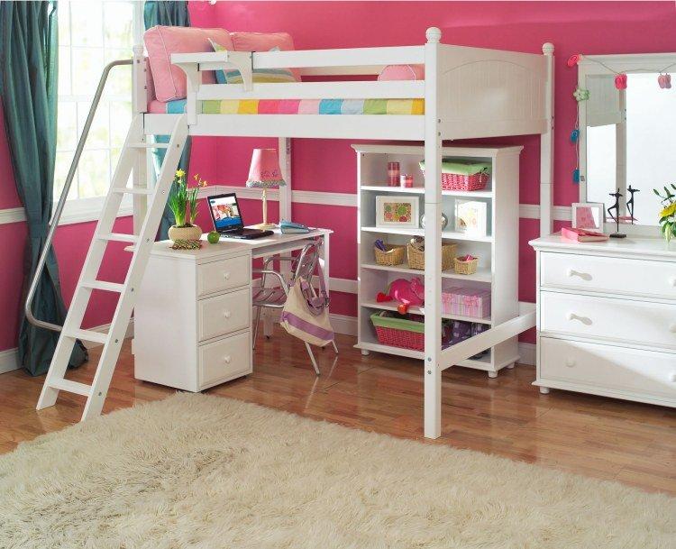decoration chambre fille avec lit mezzanine visuel 7. Black Bedroom Furniture Sets. Home Design Ideas