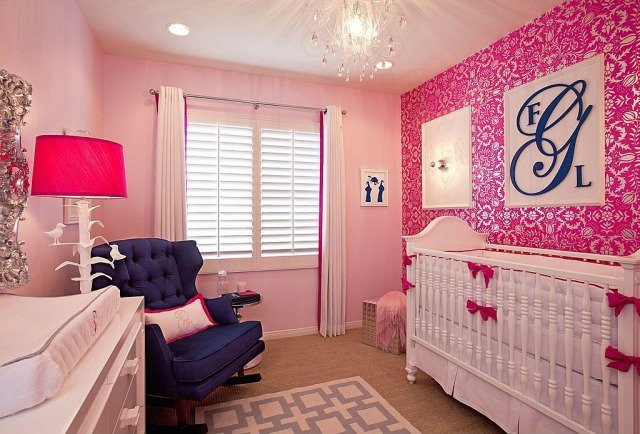 decoration chambre fille bleu et rose. Black Bedroom Furniture Sets. Home Design Ideas