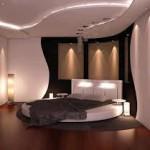 decoration chambre lit rond
