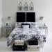 decoration chambre noir et blanc