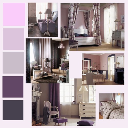 Chambre Marron Parme : Decoration chambre parme visuel