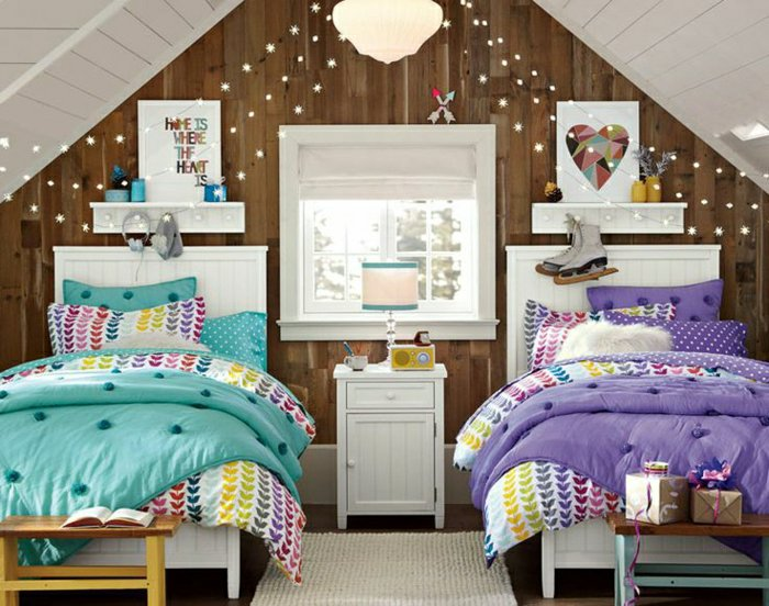 decoration chambre pour deux filles visuel 4. Black Bedroom Furniture Sets. Home Design Ideas
