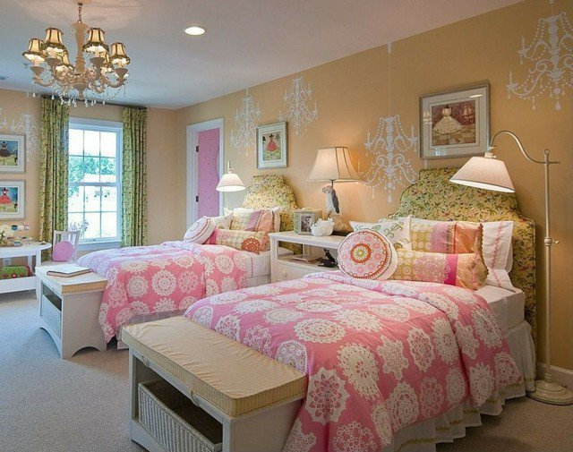 decoration chambre pour deux filles. Black Bedroom Furniture Sets. Home Design Ideas