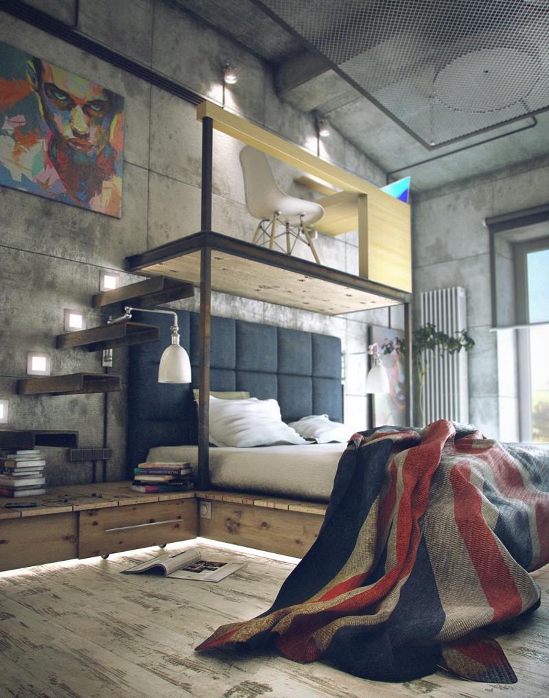 idee deco chambre style loft