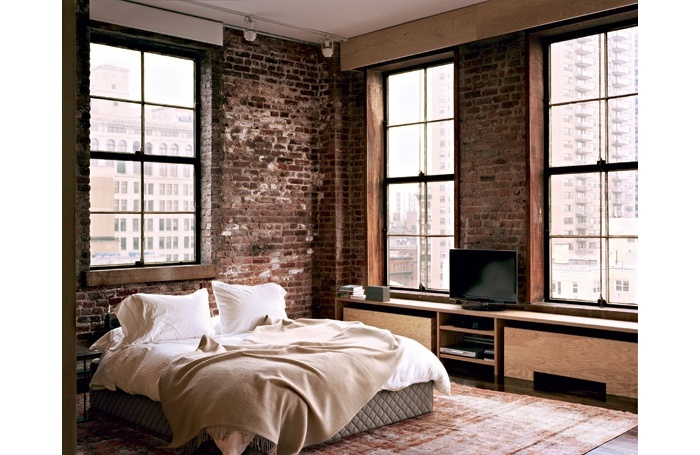 decoration chambre style loft. Black Bedroom Furniture Sets. Home Design Ideas