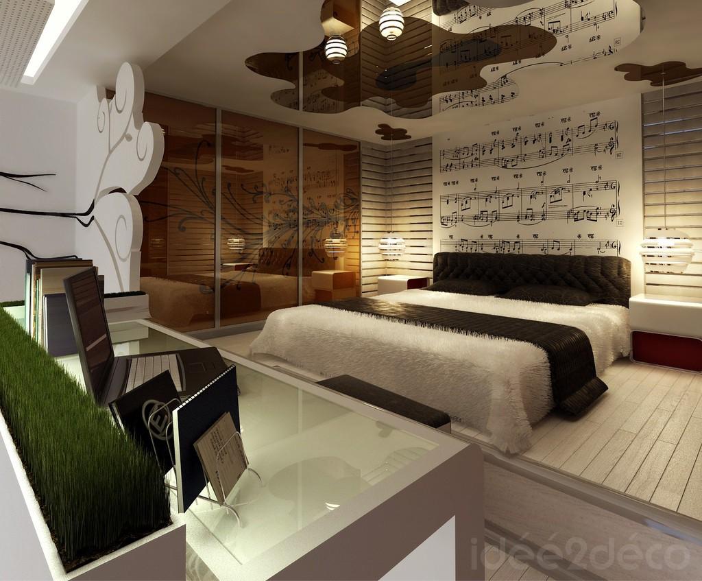 decoration chambre theme musique visuel 6. Black Bedroom Furniture Sets. Home Design Ideas