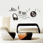 decoration chambre theme musique