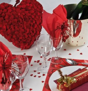 decoration lit st valentin