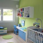 idee deco chambre bebe vert anis
