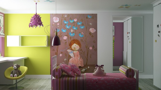 idee decoration chambre fillette  visuel #9