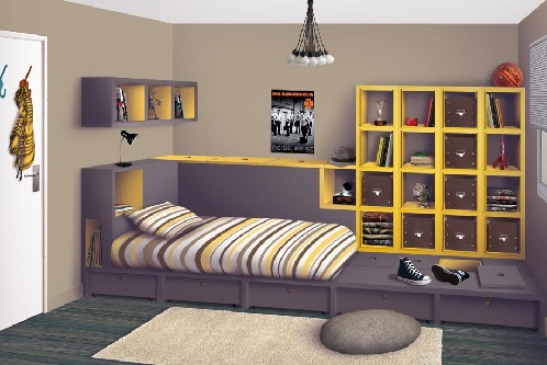 astuce rangement chambre ado visuel 3. Black Bedroom Furniture Sets. Home Design Ideas
