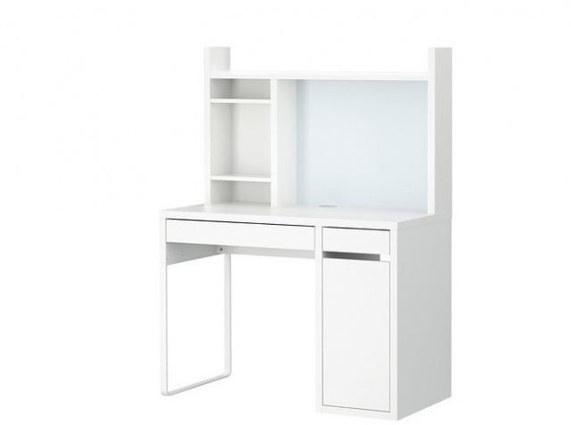 Bureau pour fille ikea for White desk with hutch ikea