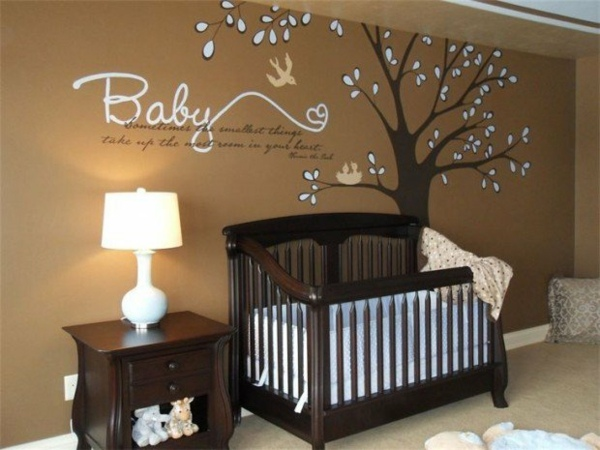 chambre bebe decoration murale visuel 5. Black Bedroom Furniture Sets. Home Design Ideas