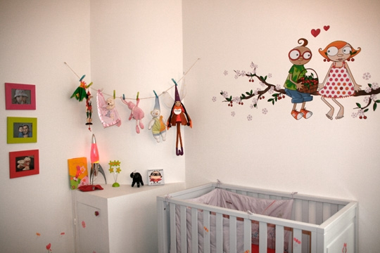Chambre bebe decoration murale visuel 6 - Decoratie murale bebe ...