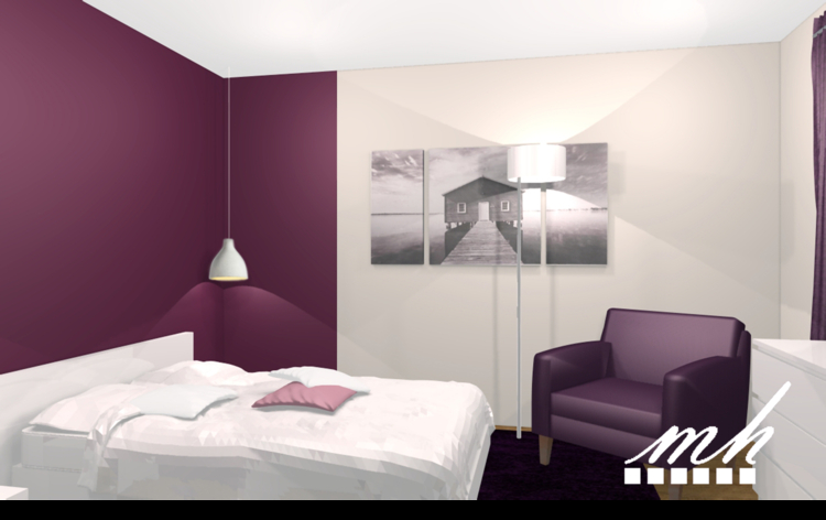 Chambre deco exemple visuel 8 for Exemple de chambre adulte