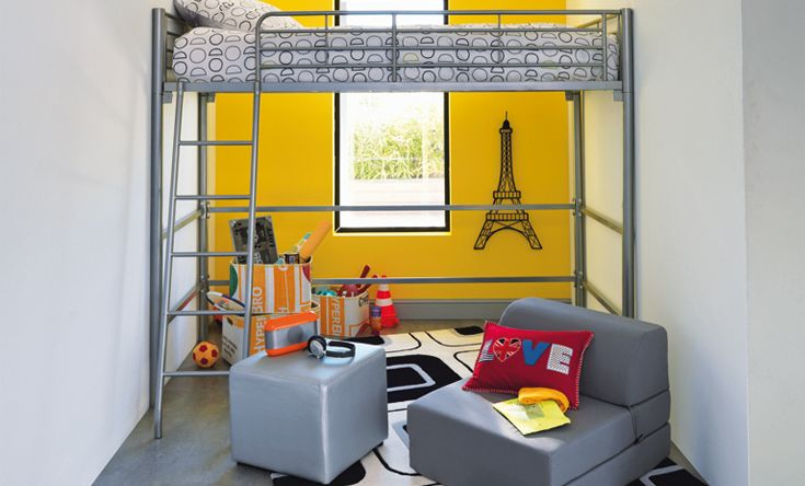 Chambre Garcon Mezzanine : Deco chambre ado garcon alinea visuel