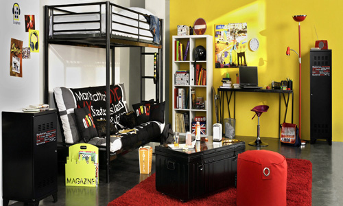 deco chambre ado geek. Black Bedroom Furniture Sets. Home Design Ideas