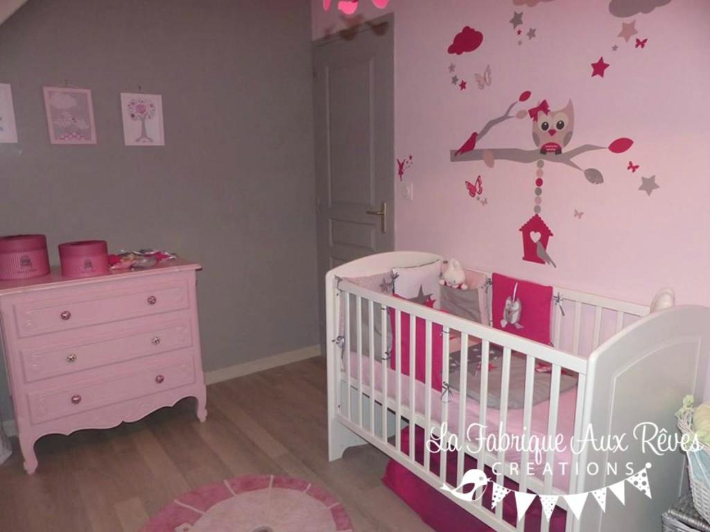 deco chambre bebe fille gris rose - visuel #6
