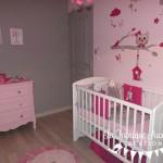 deco chambre bebe fille gris rose