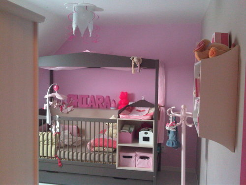 Deco chambre bebe fille gris rose for Decoration chambre bebe fille rose et gris