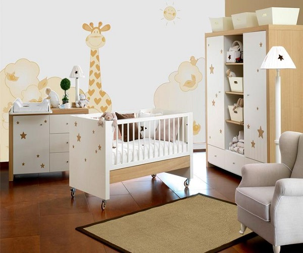 deco chambre bebe girafe. Black Bedroom Furniture Sets. Home Design Ideas