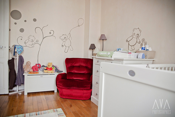 Deco chambre bebe garcon ourson for Stickers ourson chambre bebe