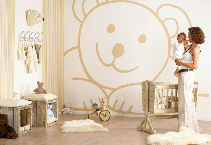 Deco chambre bebe theme ourson for Deco ourson chambre bebe