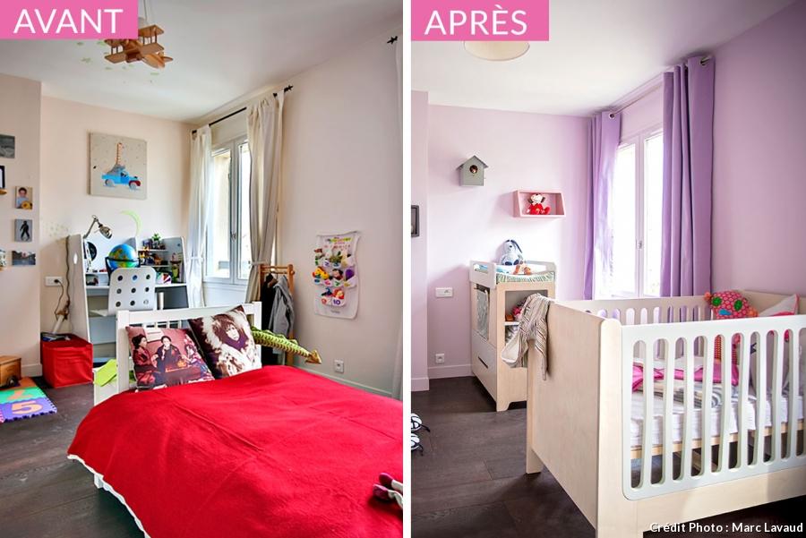 deco chambre fille avant apres visuel 3. Black Bedroom Furniture Sets. Home Design Ideas