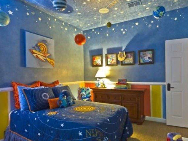 d coration chambre theme espace. Black Bedroom Furniture Sets. Home Design Ideas