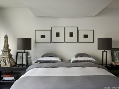 deco chambre gris et beige - visuel #4
