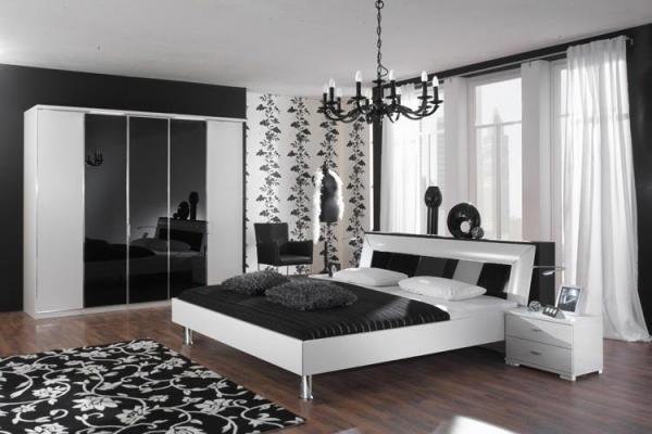 deco chambre noir blanc gris - visuel #8