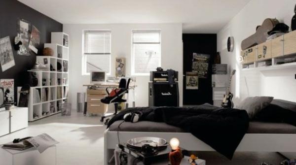 deco chambre noir et blanc ado - visuel #8
