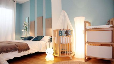 deco chambre parent avec bebe visuel 1. Black Bedroom Furniture Sets. Home Design Ideas
