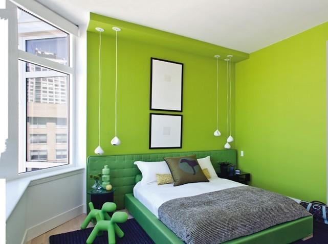 Beautiful Chambre Vert Et Gris Galerie - Photos et idées décoration ...